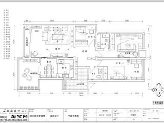 长沙通用时代139平米简欧风格
