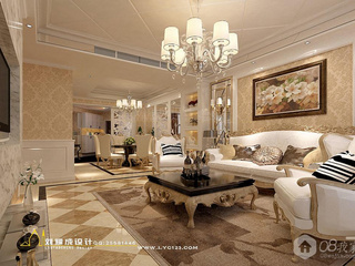 长沙潮宗御苑130平米欧式设计