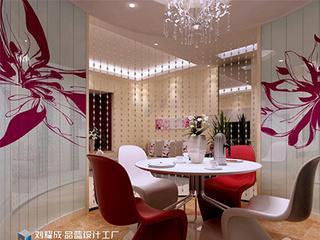 《女人花》成都金科中心8万装修75平米高品位家居