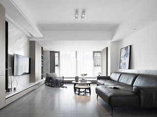200㎡的现代风装修,黑白之间的高级格调